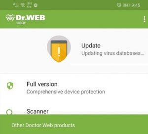 اپلیکیشن Dr.Web AntiVirus Light