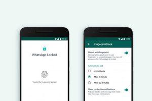 واتساپ در به روزرسانی جدید پشتیبانی از اثر انگشت را به اپلیکیشن خود اضافه کرد